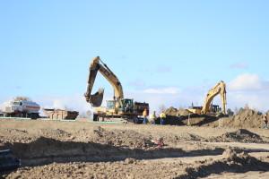 Construction at Sand Creek.