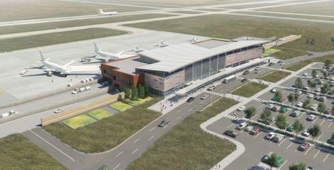 Williston Basin International Airport rendering.