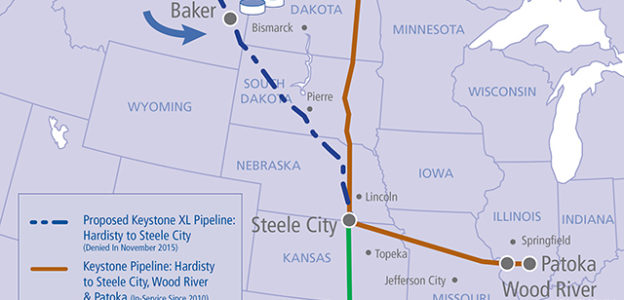 Construction of the Dakota Access Pipeline in South Dakota.